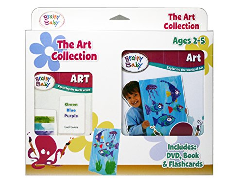 Brainy Baby Teach Your Child Art: Board Book, Flashcards & DVD