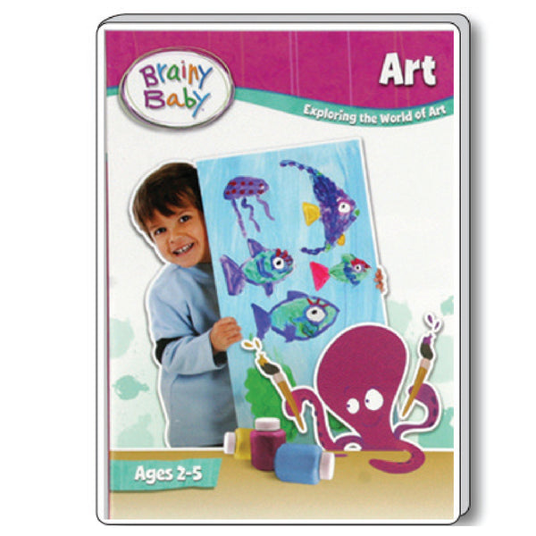 Brainy Baby Teach Your Child Art: Exploring the World of Art DVD Deluxe Edition