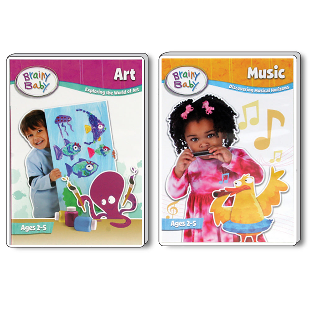 Brainy Baby Teach Your Child Art and Music DVDs Set of 2 Deluxe Edition