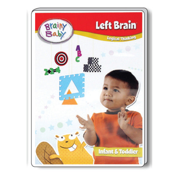 Brainy Baby Left Brain Infant Learning: Logical Thinking Infant Brain Development DVD Deluxe Edition