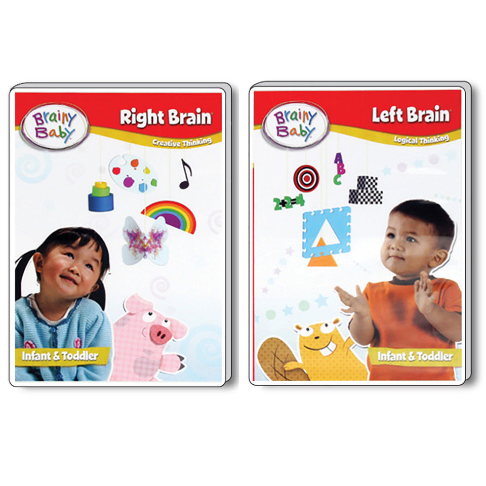 Brainy Baby Right Brain and Left Brain: Creative and Logical Thinking Infant Brain Development DVDs