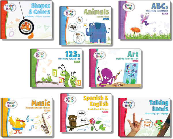 Brainy Baby Teach Your Child Educational Basics: Complete Set of 8 Board Books Deluxe Edition