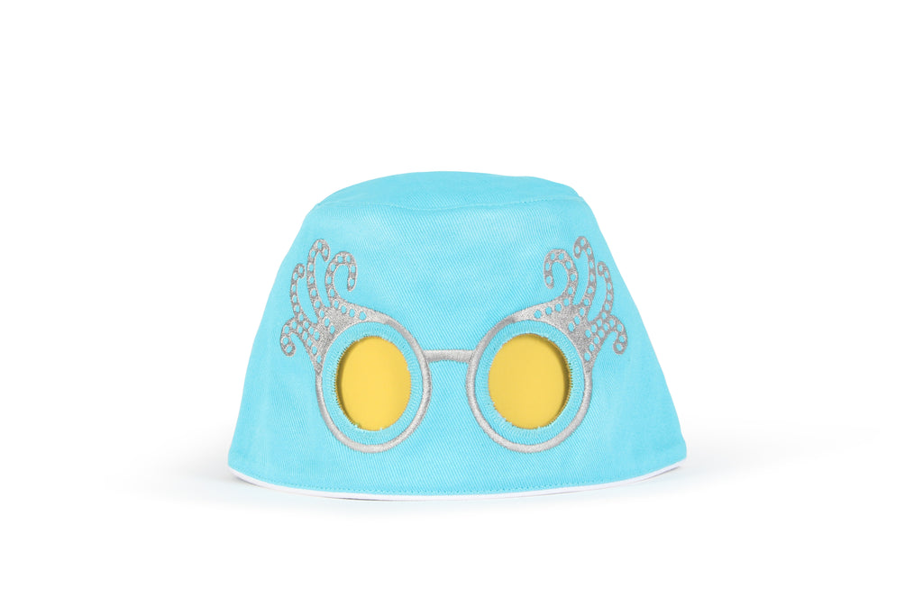 COOEEE Sunglasses Hat Blue & Pink | Fun Hats