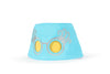 COOEEE Edna Sunglasses Hat Blue and Pink with Yellow Lenses by Boomerang Baby