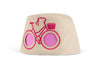 COOEEE Pink Bike Sunglasses Hat Khaki with Pink Lenses by Boomerang Baby