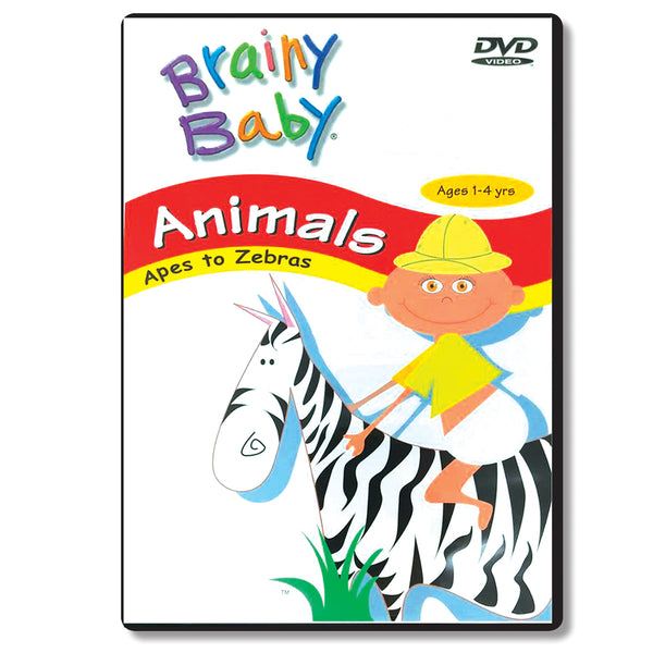 Brainy Baby Teach Your Child Animals: Apes to Zebra DVD Classic Edition