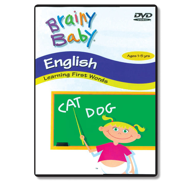 Brainy Baby Teach Your Child English: Learning First Words DVD Classic Edition