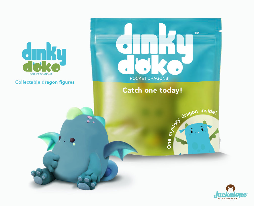 Dinky Doko Collectible Pocket Dragon by Jackalope Brands
