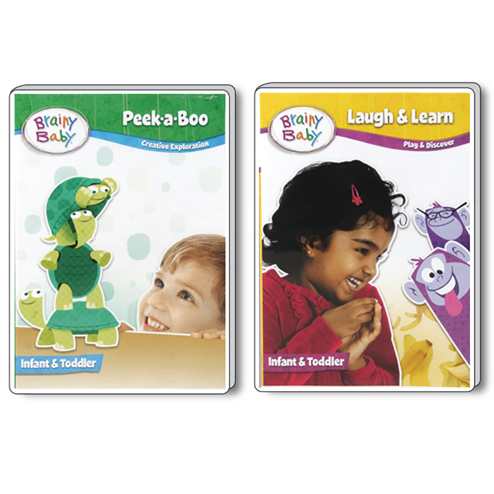 Brainy Baby Peek a Boo and Laugh & Discover: Creative Exploration and Learning & Discovery DVDs