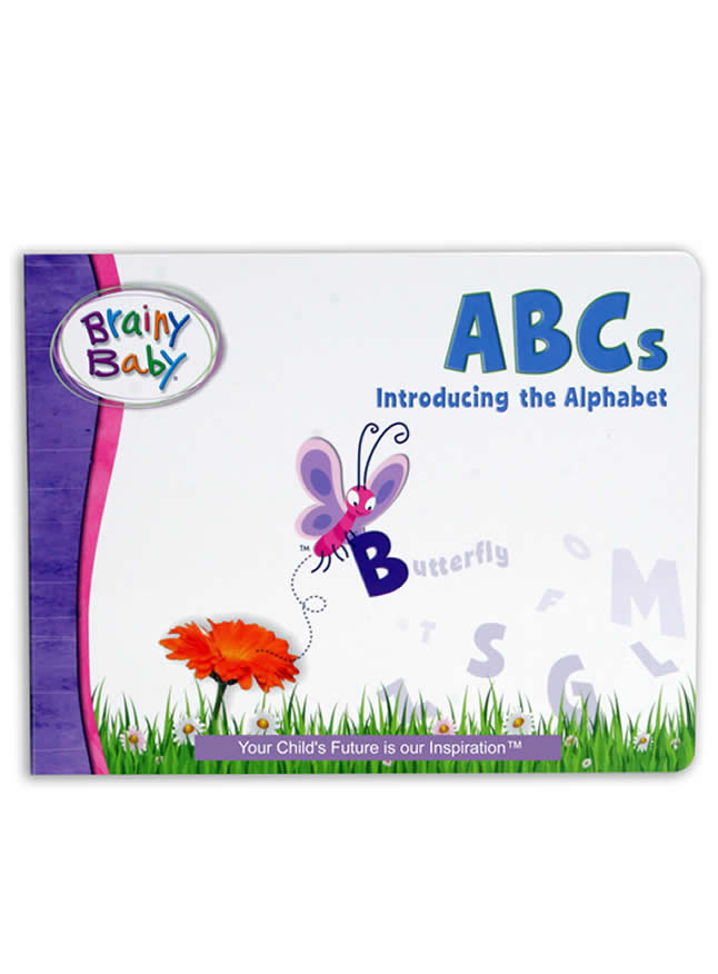 Brainy Baby ABCs Board Book Introducing the Alphabet A to Z | Alphabet Learning Book