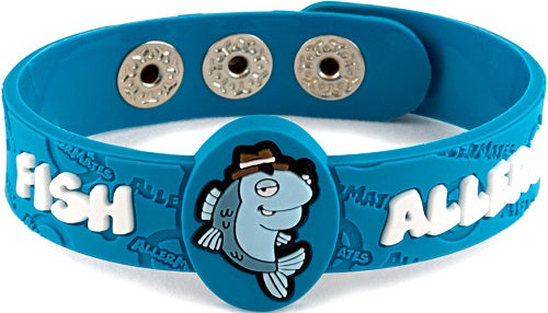 Allermates Children's Allergy Notification Bracelet - Fish