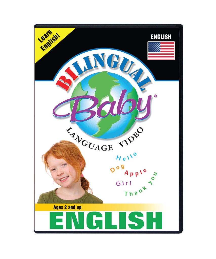 Bilingual Baby Learn English Total Immersion DVD for Babies and Toddlers by Small Fry Beginnings