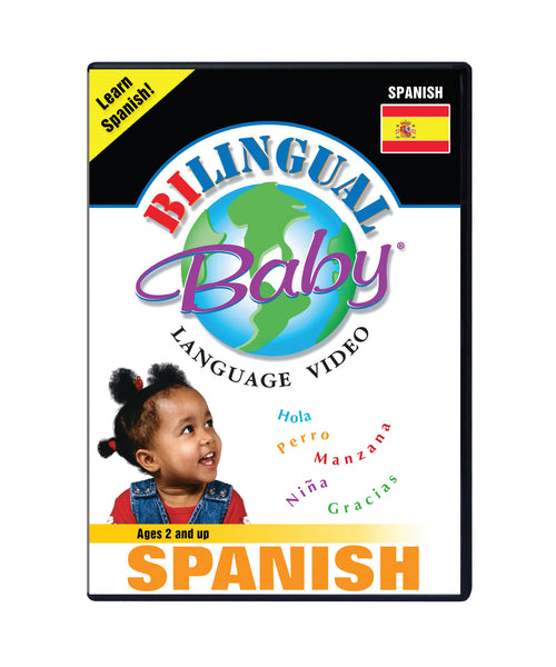 Bilingual Baby Learn Spanish Total Immersion DVD for Babies and Toddlers by Small Fry Beginnings