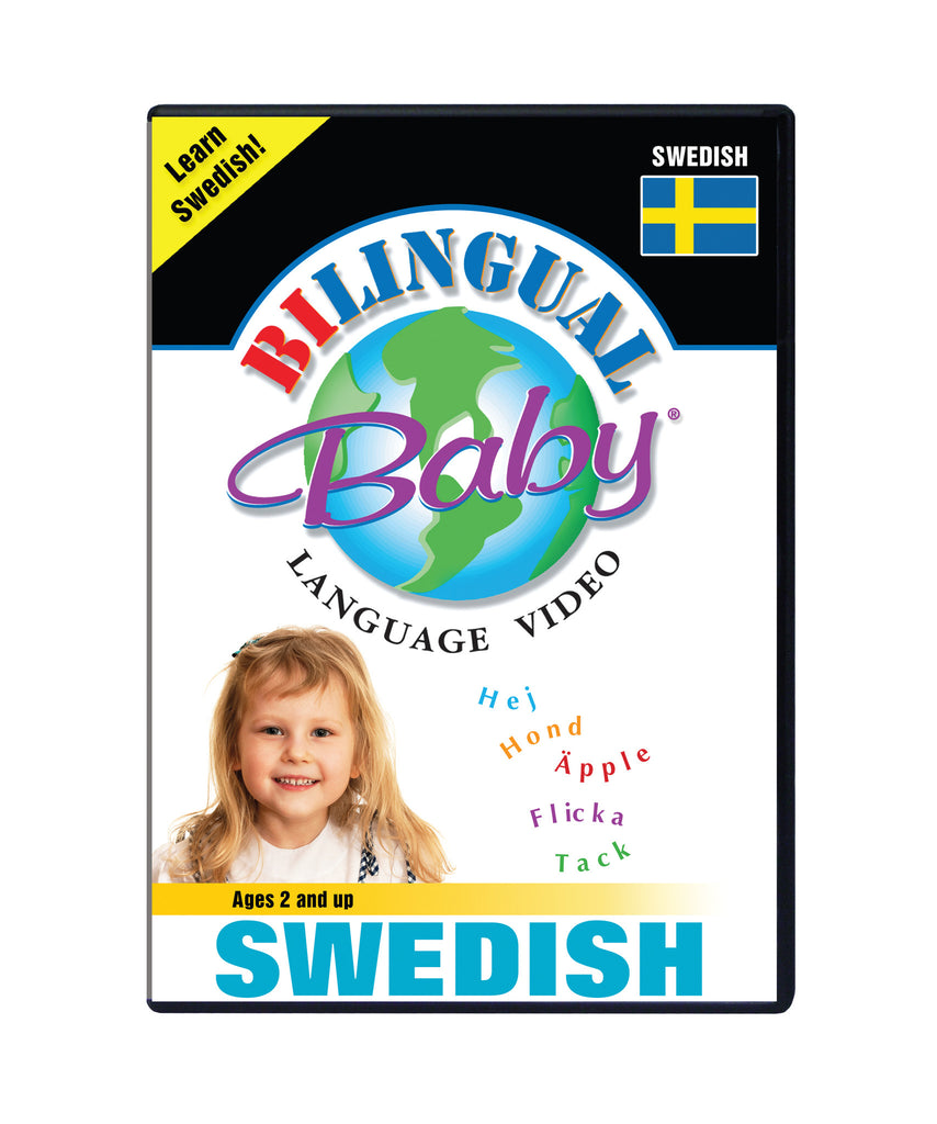 Bilingual Baby Learn Swedish Total Immersion DVD for Babies and Toddlers by Small Fry Beginnings
