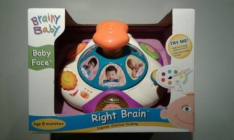Brainy Baby Right Brain Baby Face Toy