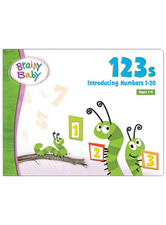 Brainy Baby 123s Board Book Introducing Numbers 1 to 20