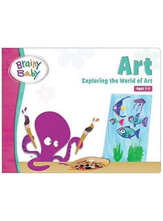 Brainy Baby Art Board Book for Preschool | Children Exploring the World of Art