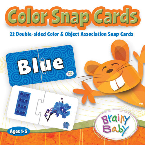 COLOR SNAP CARD GAME by Brainy Baby