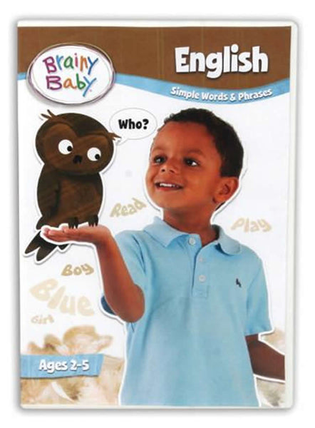 Brainy Baby English Simple Words and Phrases Deluxe Edition DVD | English Words and Phrases | English Dvds