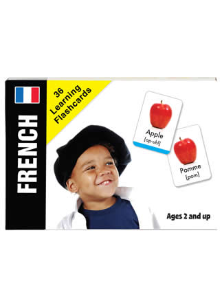 Bilingual Baby Learn French Flash Card Set for Babies and Toddlers by Small Fry Beginnings