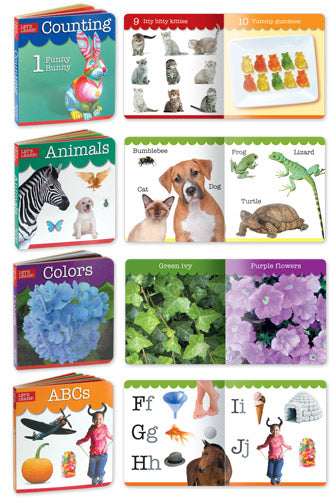 Noodle Soup Let's Learn: ABCs, Counting, Animals and Colors Chunky Board Books Collection Set of 4