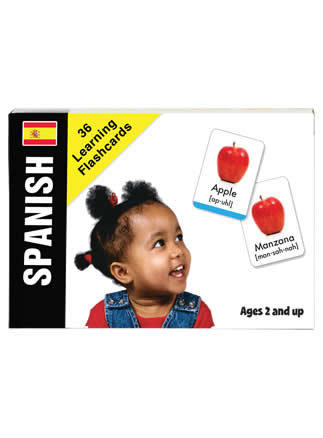 Bilingual Baby Learn Spanish Flash Card Set for Babies and Toddlers by Small Fry Beginnings