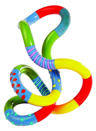 Twist Tangle Textured Fidget Puzzle Toy | Baby Toys