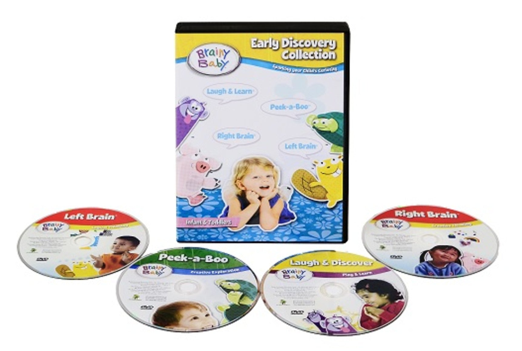Brainy Baby Infant Brain Development Learning Collection 4 DVD Set