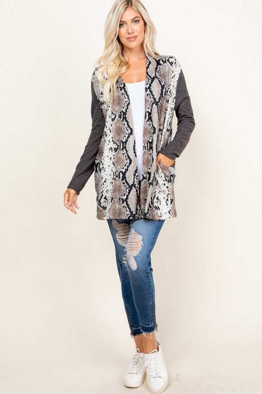 Python Striped Cardigan