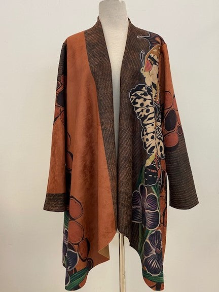Adore Short Printed Duster Coat