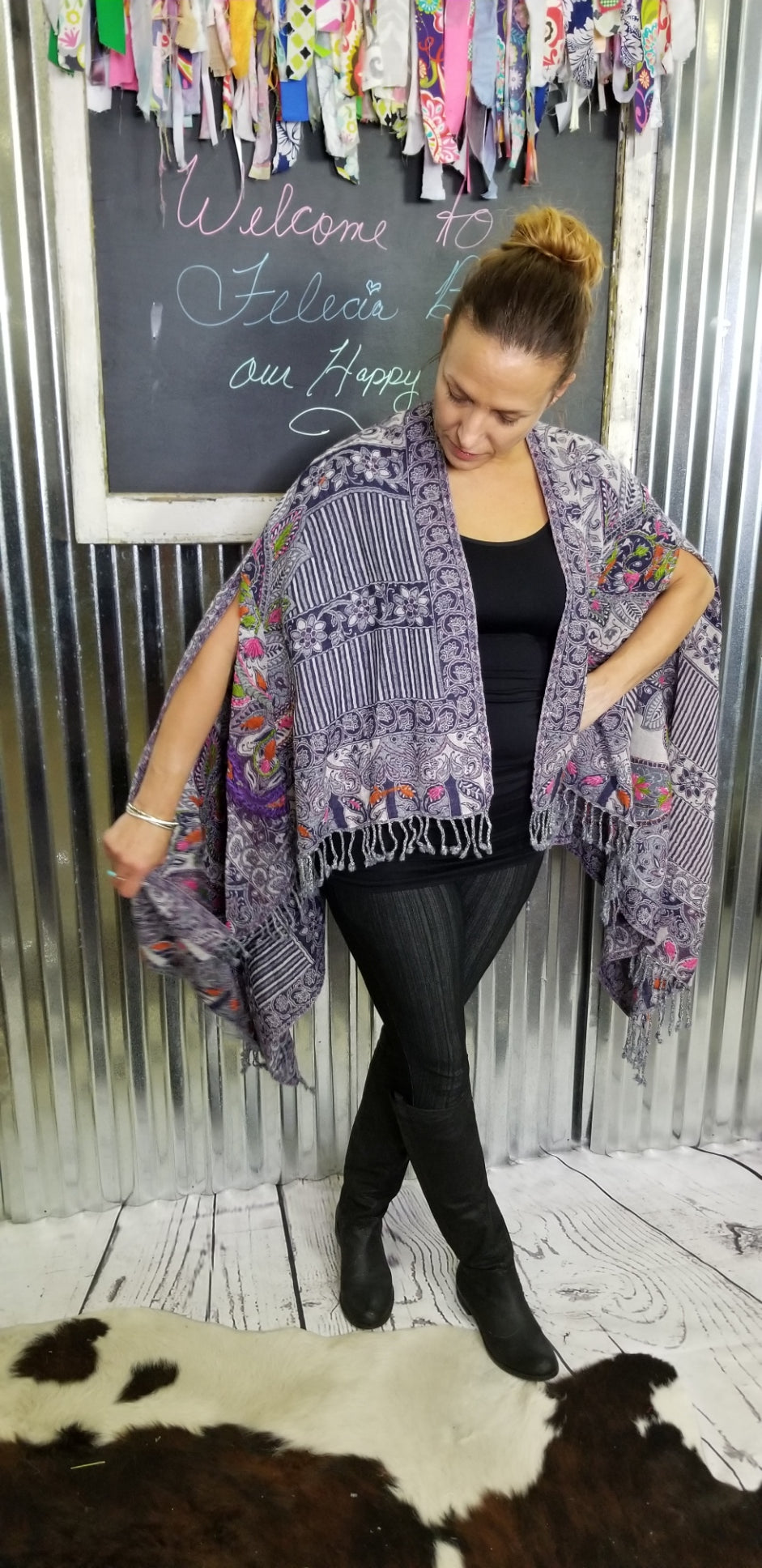 Aratta Crafty Hand Embroidered Poncho