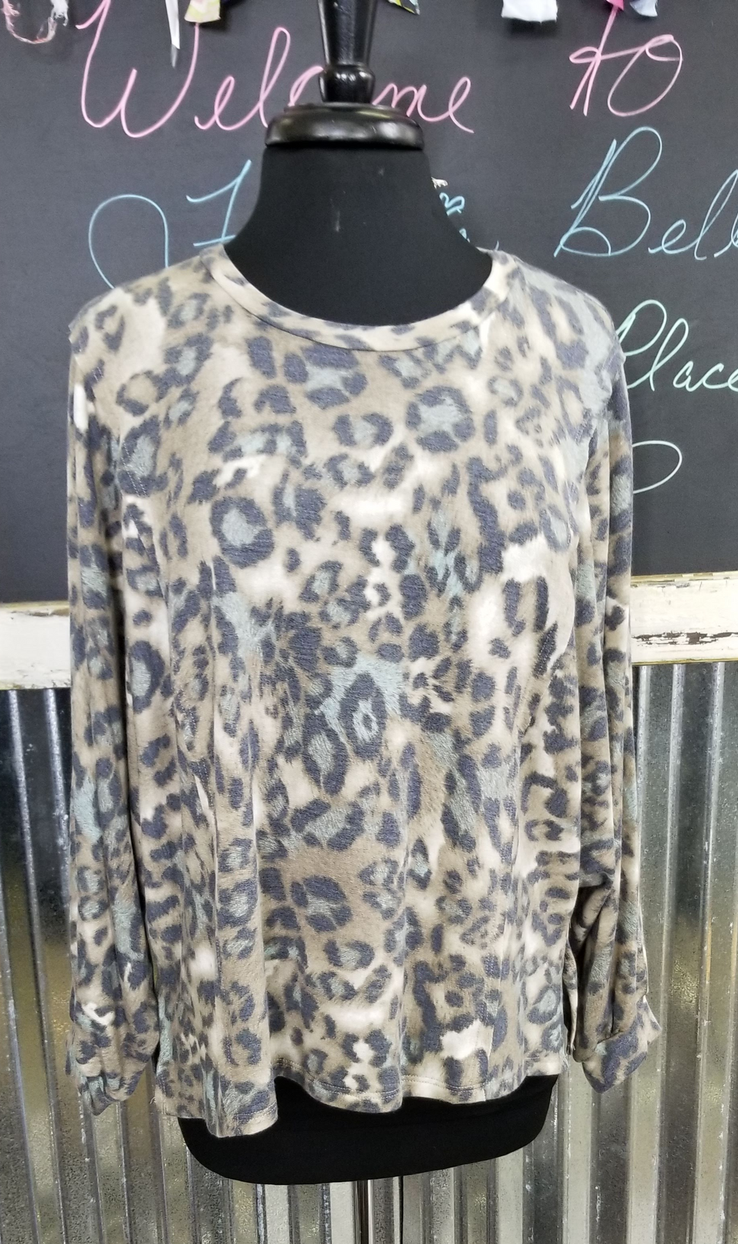 Cheetah Knit Top