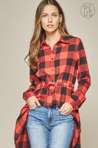 Load image into Gallery viewer, Plaid Tunic Top