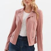Rosewood Faux Suede Jacket