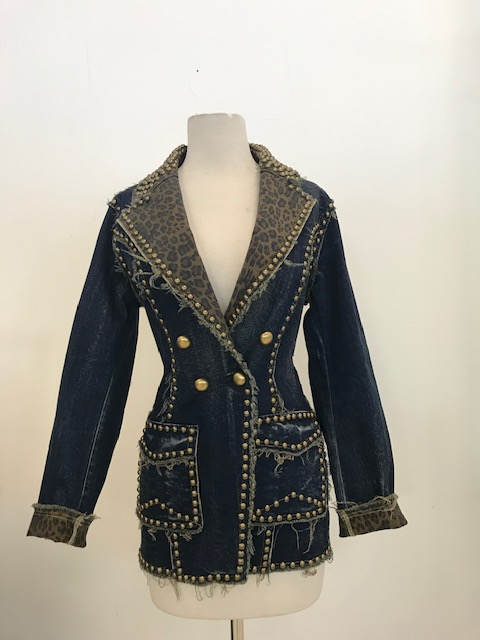 Denim Metal Studded Jacket