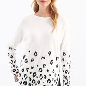 Plushy Yarn Printed Sweater