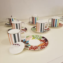 Load image into Gallery viewer, MissoniHome Espresso Cup with Saucer - Set of 6