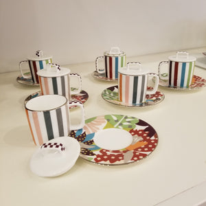 MissoniHome Espresso Cup with Saucer - Set of 6