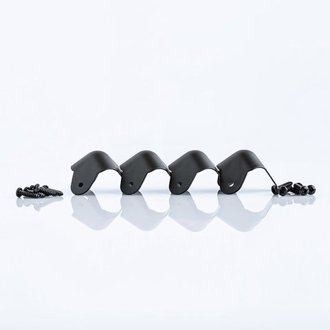 4 Pack Steel Ball Corners Black C1823K-PE4