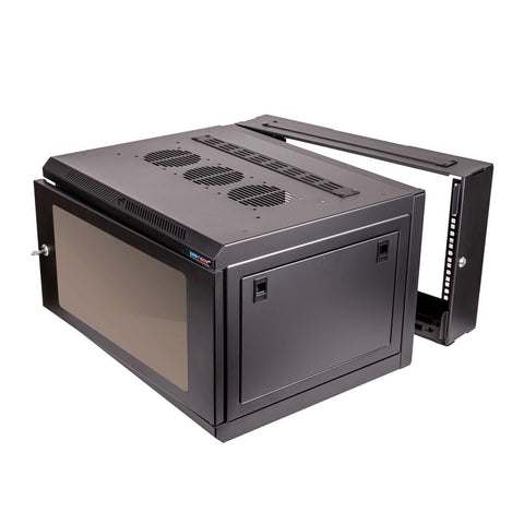 12U Double Hinged Wall Mount Rack Enclosure M6 R6412RHF-M6
