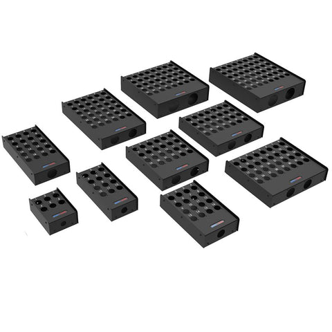 12 Hole Stage Box Punched for D-Series Connectors R2345-12