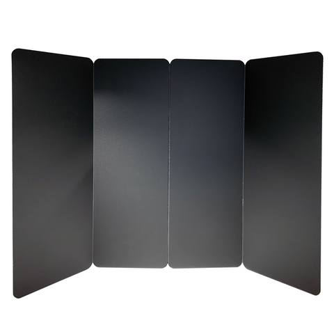 Portable Social Distancing Screen (Large, Black) PB-3W-BLACK