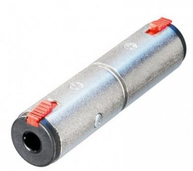 Adaptor 1/4in Jack to 1/4in Stereo Jack Socket NA3JJ NA3JJ