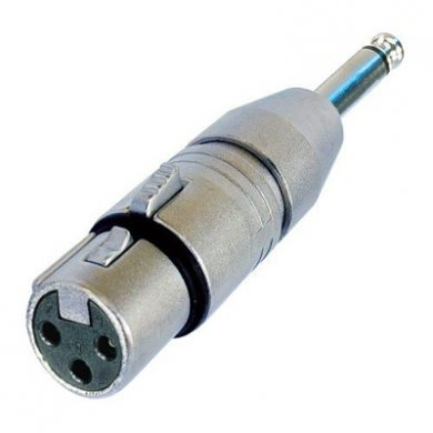 Adaptor XLR Female to 1/4in Mono Jack Plug NA2FP