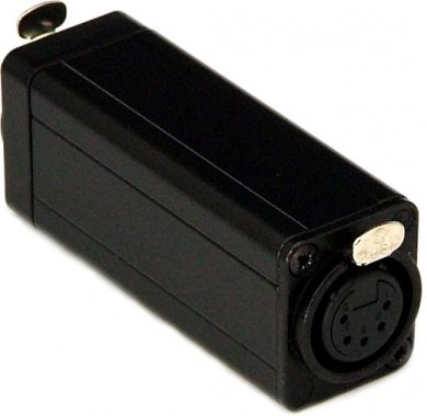 In-Line DMX Adaptor To Join RJ45 CAT5 To Female 5 Pin XLR DMX-CAT5-F