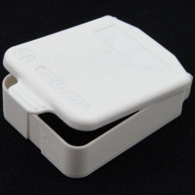 D Sized Hinged Cover White SCDX-9-White