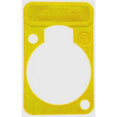 Lettering Plate Yellow for D-Chassis Connector DSS-Yellow