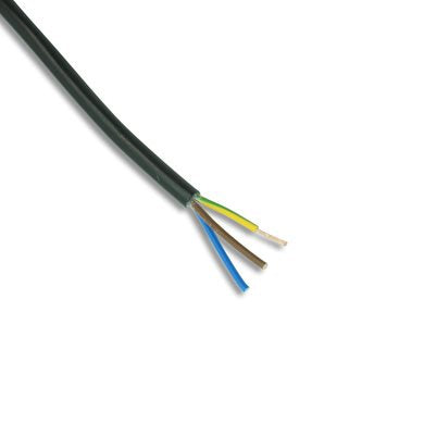 3 Core 0.5mm PVC Cable 3 Amp Black 2183Y 804-395