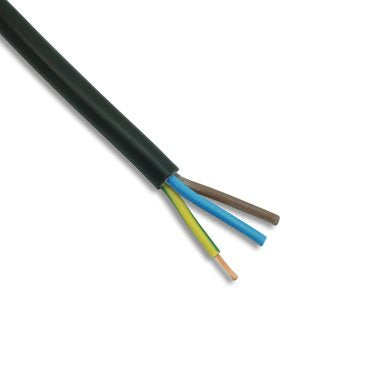 3 Core 1.5mm PVC Cable 15 Amp Black 3183Y 320020-BLK-100