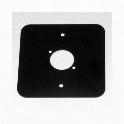 D/Plate Single Black punched for 1 x  XLR Rounded Corners 81511-RC